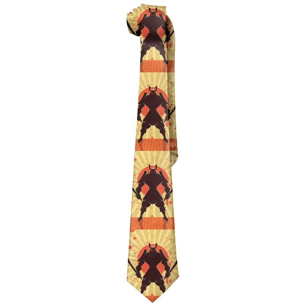 Corbatas de seda para hombre, diseño de guerrero samurái japonés ...