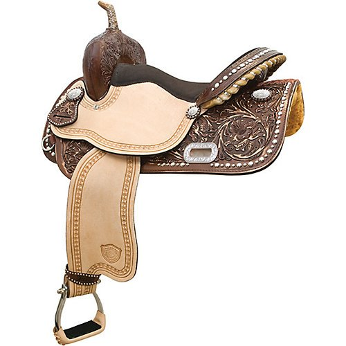 (Tex Tan Deep South Racer Barrel Saddle 14in)