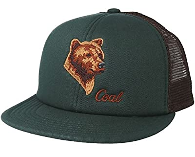 Coal The Wilds Trucker Snapback Hat Black Forest Green Bear