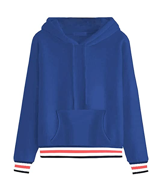 Image Unavailable. Image not available for. Color  leveltech Women s Basic  Long Sleeve Solid Pullover Hoodie ... 3aa692f30d