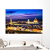 Scenic Florence Night Wall Mural by Wallmonkeys Peel and Stick Graphic (72 in W x 48 in H) WM71139