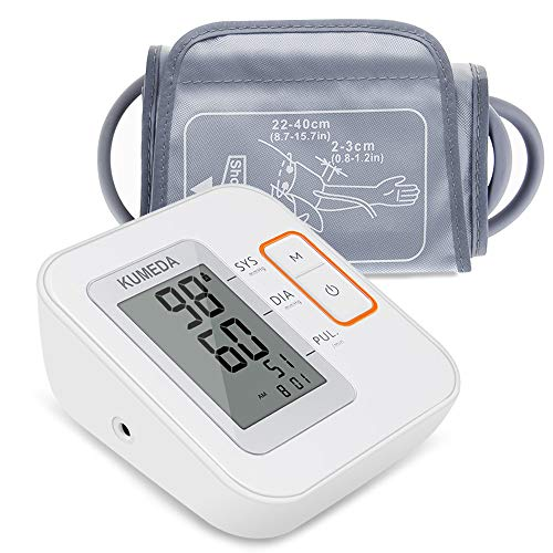 Blood Pressure Monitor,KUMEDA FDA Approved Accurate Automatic Digital Upper Arm Style Blood Monitor with Gray Cuff(Fits 8.7