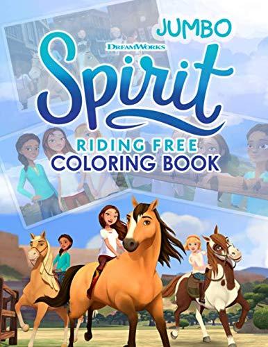 Spirit Riding Free Coloring Book: Spirit Riding Free Jumbo Coloring Book with Premium -