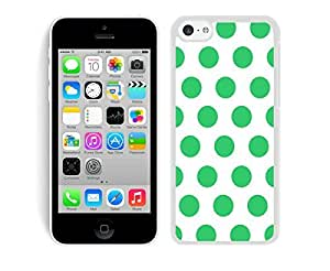 BINGO best price Polka Dot White and Green iPhone 5C Case White Cover
