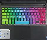Keyboard Cover for 13.3' Dell Inspiron 13-5368 i5368 13-7368 i7368 13-7368 i7378, 15.6' Dell XPS 15-9550, 15.6' Inspiron 15-5568 i5568 15-5578 i5578 15-7568 15-7569 i7568 i7569 i7579, Rainbow