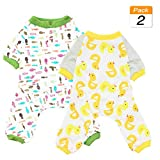 Scheppend 2-Pack Pet Clothes Puppy Cute Pajamas Dogs Cotton Rompers...