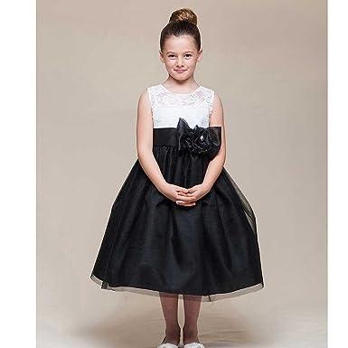 Black Toddler Flower Girl Dresses