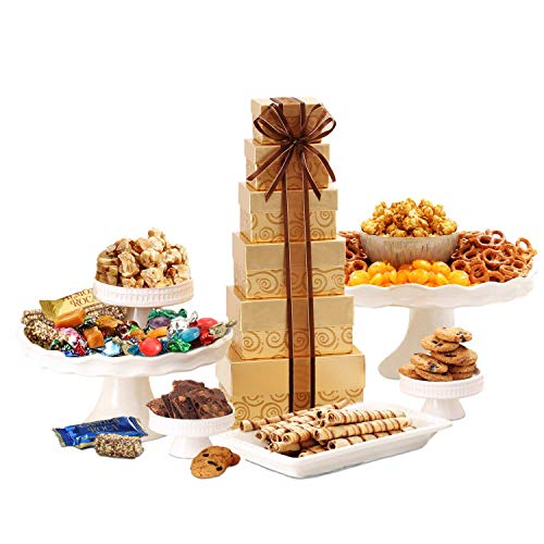 Tower Christmas Gift - Broadway Basketeers Festive Gift Tower