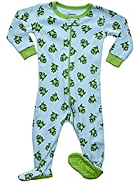 Little Baby Boys Footed Sleeper Pajama Onsie 100% Cotton (Size 6 Months-5 Toddler)
