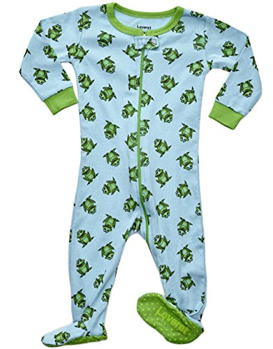 Leveret Kids Frog Baby Boys Footed Pajamas Sleeper 100% Cotton (Size 18-24 Months)