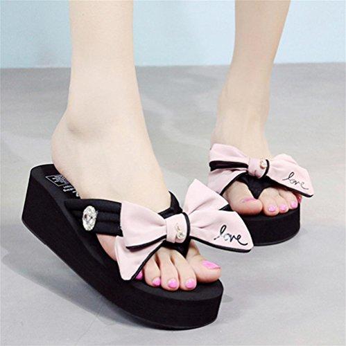 Verano Zapatos Playa Arenque Los Fricción Mariposa 3 Del Inferiores Deslizadores Manera Las La Nudo De Refrescan Que Señoras Espesa FZnw0xBP