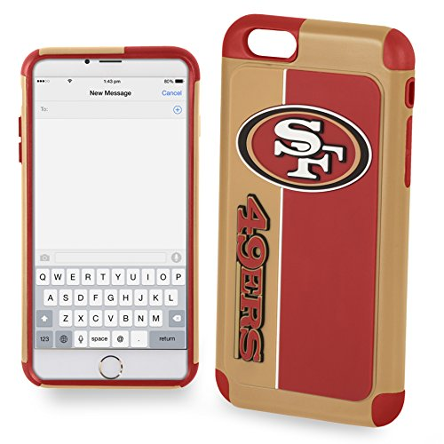 Forever Collectibles IPHNNFEXTPU6LSF Dual Hybrid Bold Series Case for iPhone 6 Plus/6S Plus,NFL San Francisco 49ers