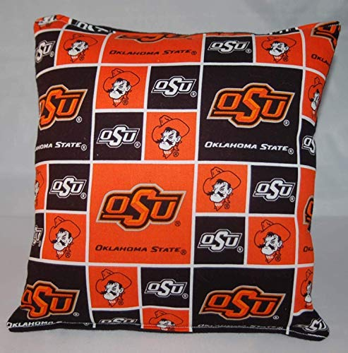 Oklahoma State Pillow Football Pillow OSU Pillow NCAA HANDMADE In USA Pillow is approximately 10