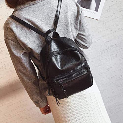 Da Pelle Borsa Tracolla Femminile Nero Casual Moda A nero Qiusa Viaggio Donne Delle In Impermeabile Zaino Ragazze 0qwc7Ctf