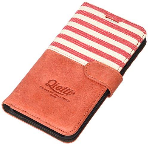 QIOTTI QX-B-0110-04-SGS6EP Booklet Q.Book Denim Premium Echtleder für Samsung Galaxy S6 Edge Plus rot