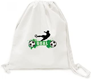 DIYthinker Penalty Sport Football Football Texte Toile Drawstring Backpack Voyage Sacs Shopping