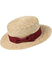 BABEYOND Men's 1920s Brim Boater Hat Gatsby Straw Hat 20s Costume Accessories