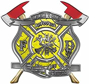 Amazon Com The Desire To Serve Twin Fire Axe Firefighter