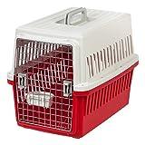 IRIS Medium Deluxe Pet Travel Carrier, Red