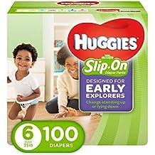 HUGGIES Little Movers Slip On Diaper Pants, Size 6
