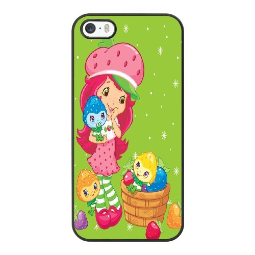 Coque,Coque iphone 5 5S SE Case Coque, Strawberry Shortcake Birthday Banner Cover For Coque iphone 5 5S SE Cell Phone Case Cover Noir