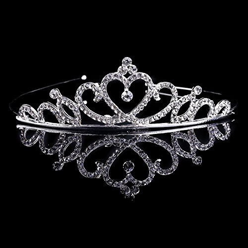 - Nipoo Perfect Crystal Girls Princess Tiara Crown Childrens Tiara Headband for Brithday Wedding Prom (for 4-12 years old girl)