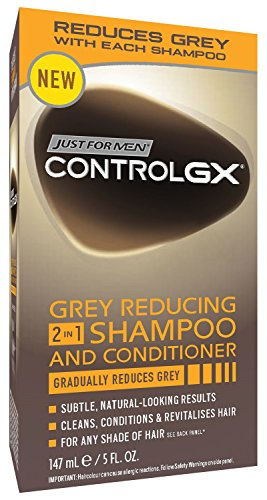 Just For Men Control Gx 2-In-1 5 Ounce Shampoo+Conditioner Grey Boxed (147ml) (6 Pack)