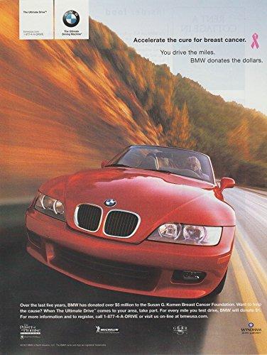 2002 BMW Z3 ROADSTER & SUSAN G. KOMEN Breast Cancer Foundation