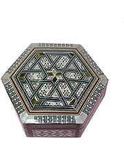صندوق صدف وخشب للمجوهرات متوسط الحجم