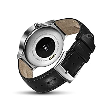Huawei Watch Stainless Steel With Black Suture Leather Strap (U.s. Warranty) 5