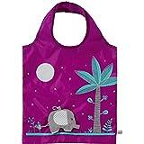 Eco Shopping Bag - Elephant design, Purple bag