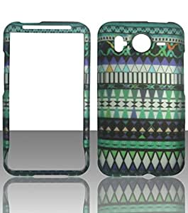 2D Green Tribal HTC Inspire 4G, HD Desire G10 (UK, Canada) AT&T Case Cover Hard Phone Case Snap-on Cover Rubberized Touch Faceplates