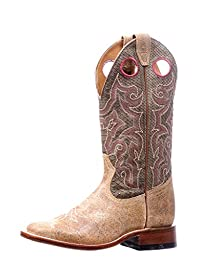 Boulet Western Boots Womens Cowboy Leather Square Zermat Baleari 5192