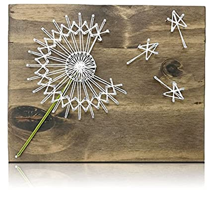 image relating to Free Printable String Art Patterns With Instructions called Dandelion String Artwork Package - Do-it-yourself Package, Crafts Package for Grownups, String Artwork Creating Package