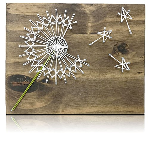 Dandelion String Art Kit - DIY Kit, Crafts Kit for Adults, String Art Crafting Kit]()