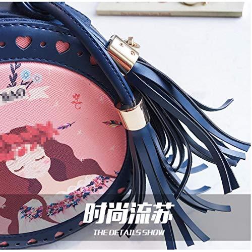 cerniera borsetta blu borsa rosa mano multi Borsa singola lunga a tracolla a con tracolla borsa portafoglio tax6TqA1