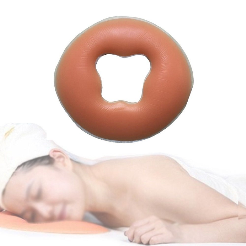 vinmax Soft Body Massage Face Pillow Overlay Silicon Spa Pillow SPA Beauty Salon Care Face Rest Cushion