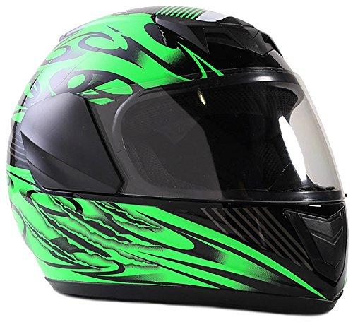 Typhoon Youth Full Face Motorcycle Helmet Kids DOT Street - Gloss Green ()