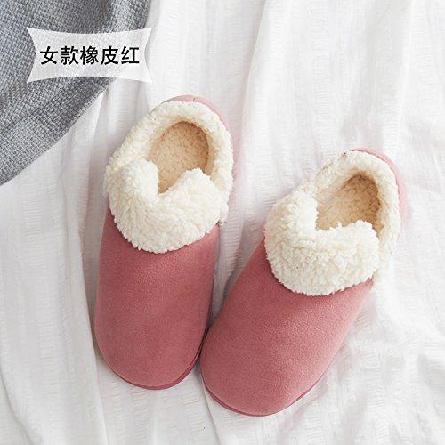 Home fankou cotone pantofole donna coppia inverno spessa coperta, antiscivolo pantofole caldi uomini e ,43-44,