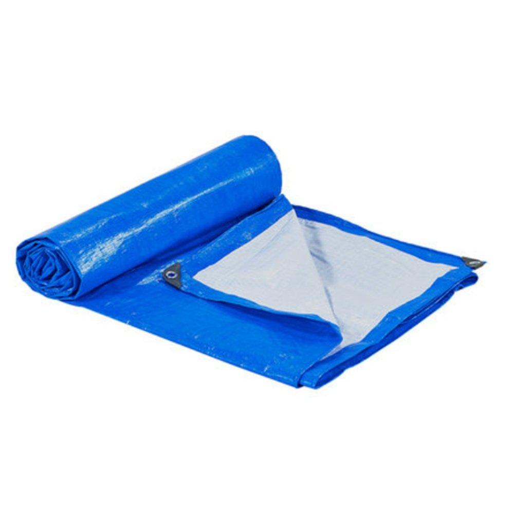 ZfgG Plane Waterproof Heavy Duty blau/weiß Tarp Blatt - Premium-Qualität aus 170g / Quadratmeter gemacht