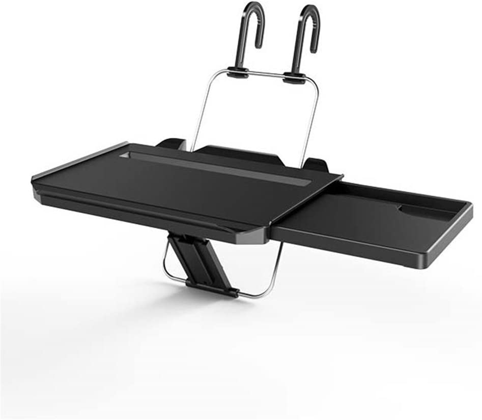 GFYWZZ Car Steering Wheel Laptop Stand, Vehicle Back Seat Adjustable Food Desk Tray Table Holder