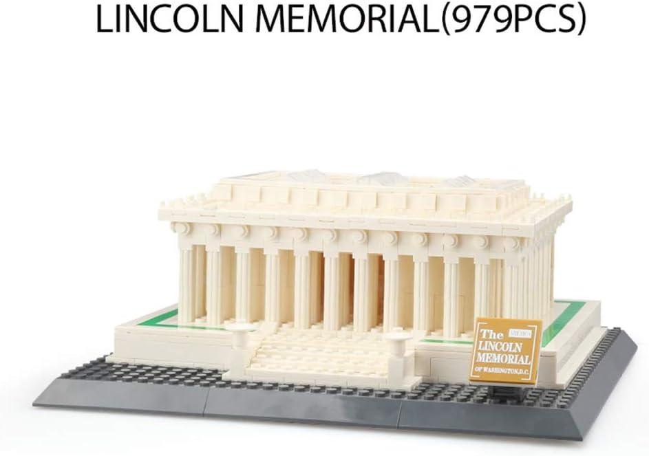 KAMELUN Arquitectura Famosa Modelo Bloques De Construcción, Memorial De Lincoln Modelo Bloques De Construcción Bricolaje Ladrillos Creativos Juguete Educativo Regalos para Adolescentes Y Adultos: Amazon.es: Hogar