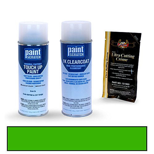 PAINTSCRATCH Green Go GM/PGM for 2017 Dodge Challenger - Touch Up Paint Spray Can Kit - Original Factory OEM Automotive Paint - Color Match Guaranteed - Factory Spray Paint