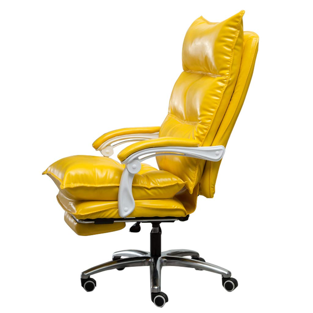 Amazon Com Faux Leather Executive Office Chairs With Footrest And