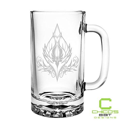 World of Warcraft - Blood Elf Crest - Etched Beer Mug