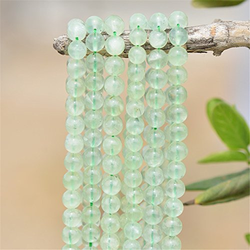 Grade AA Natural Prehnite Beads NOT Dyed 4mm-12mm Smooth Polished Round 15 Inch Strand PR02