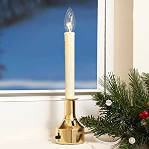 Brookstone Adjustable-Height Electric Window Candles