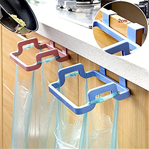 Hanging Kitchen Cupboard Cabinet Tailgate Stand Storage Hanging Trash Garbage Bag Holder 1 pcs(Random Color) (Holder Tail 22)