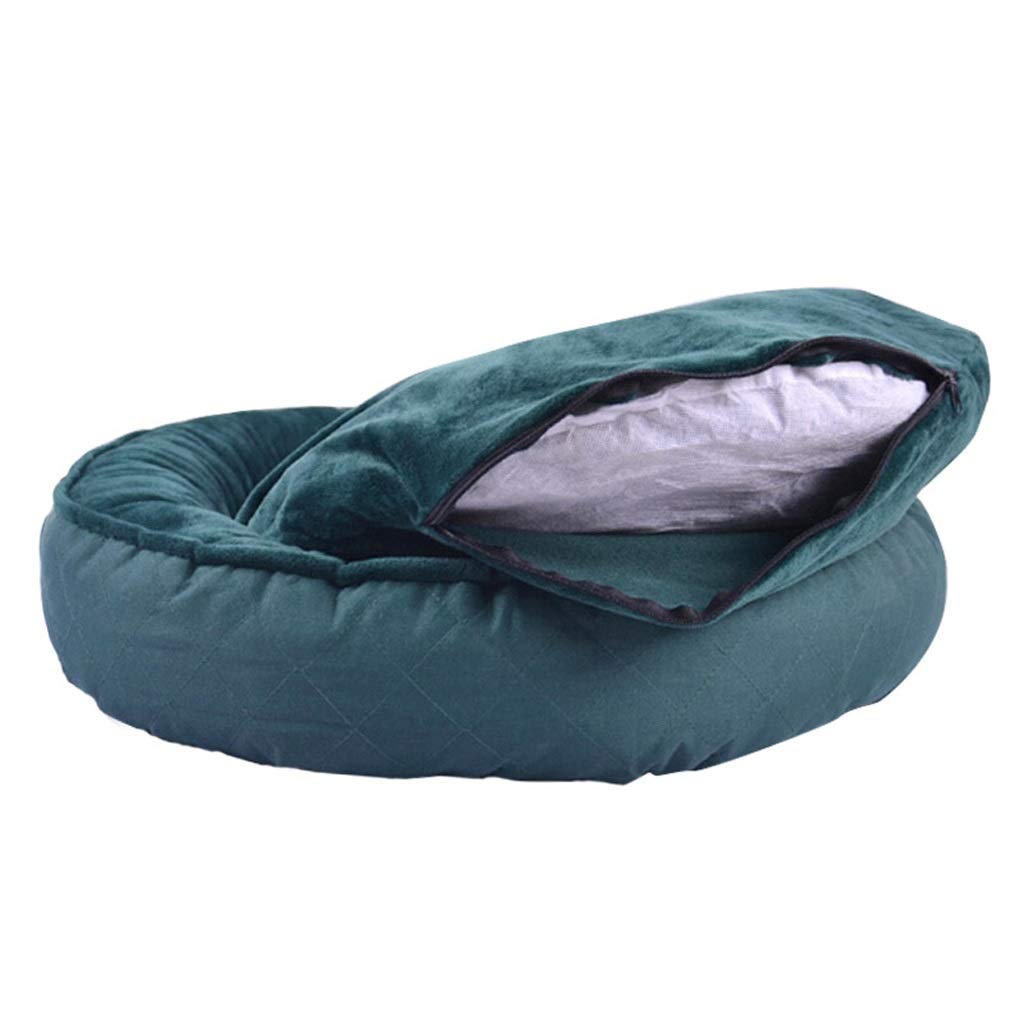 Green X-Small Green X-Small Kennel Medium Dog Small Dog Pet Nest Cat Mat Bed 4 Season Removable Wash Indoor Pet Sofa (color   Green, Size   XS)