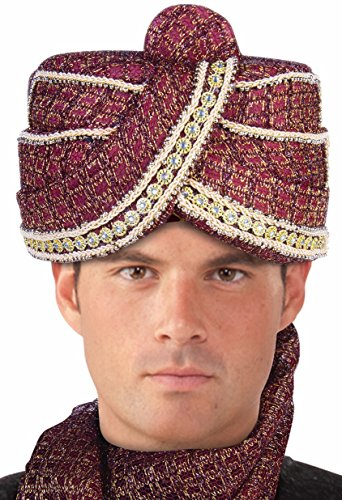 Forum Novelties Men's Maharaja Sheik Turban, Multi, One Size